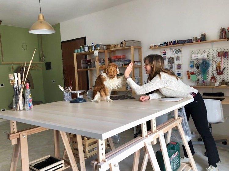 Laboratorio ceramica di Pennino Gioielli in cui realizzo i gioielli in ceramica siciliana dipinti a mano