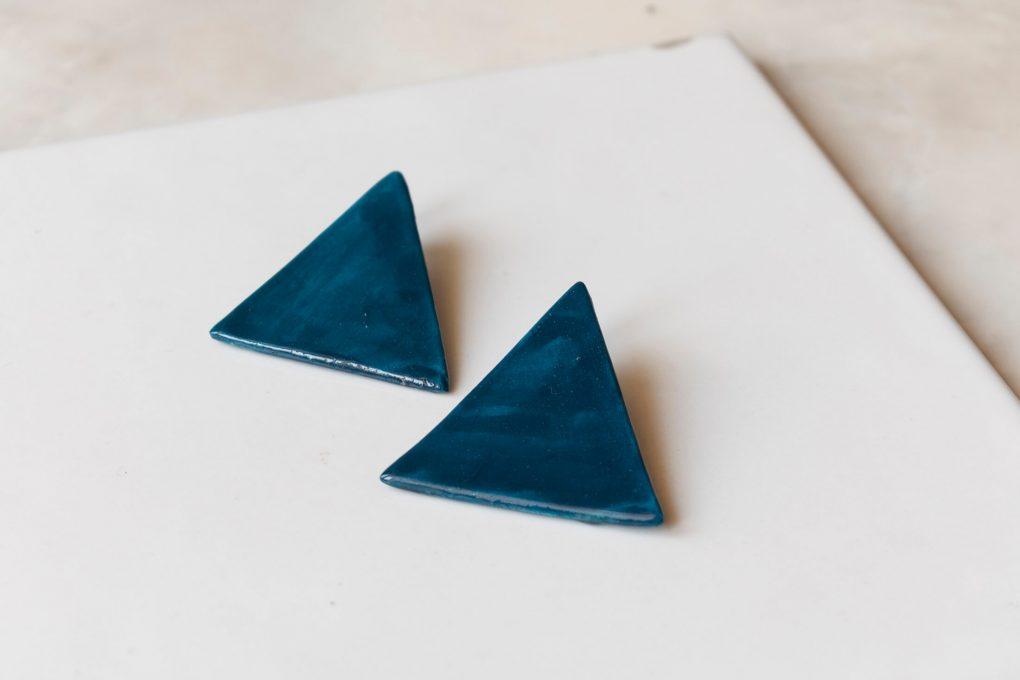 Minimal big triangolo. Orecchini lobo