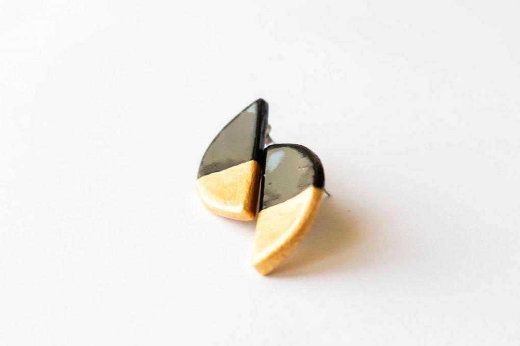 Minimal semicerchio oro. Orecchini lobo