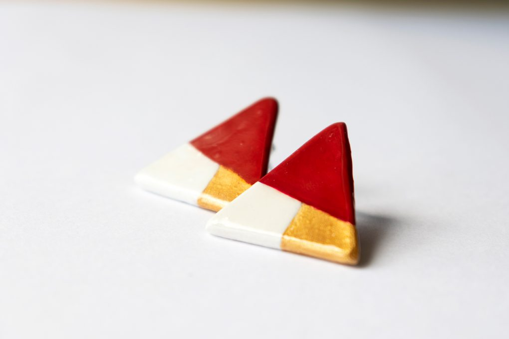 Minimal triangolo. Orecchini lobo
