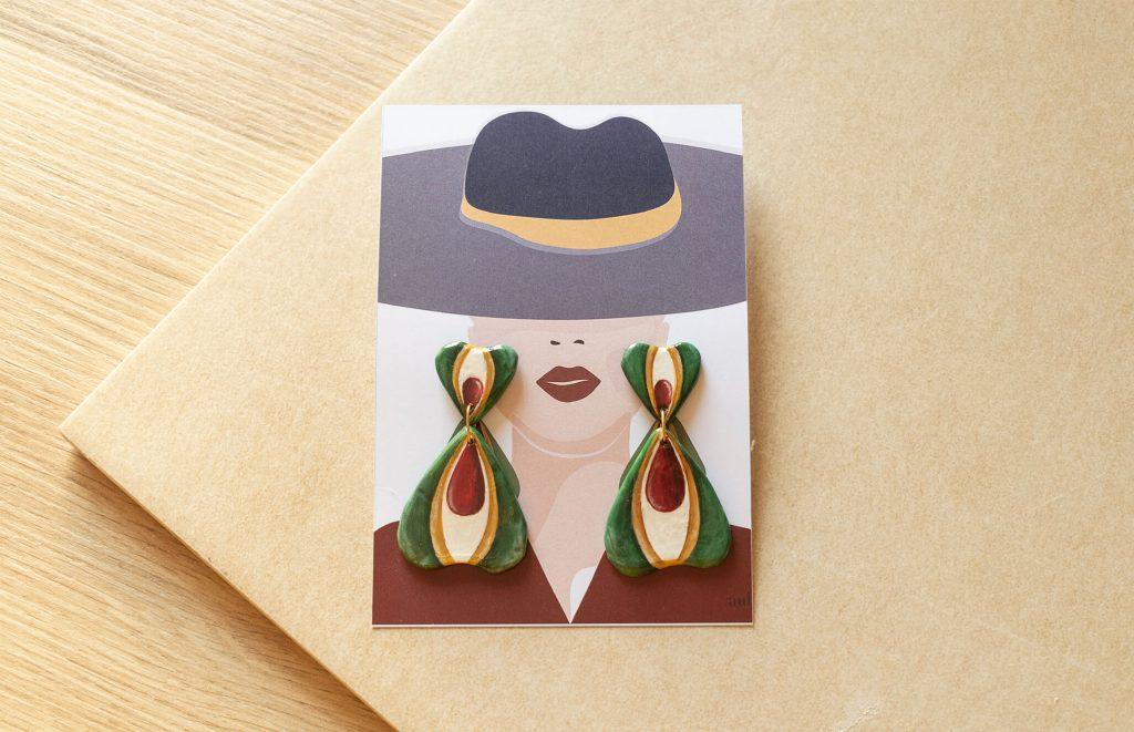 Illustrazione collezione Texture '60 | orecchini pendenti