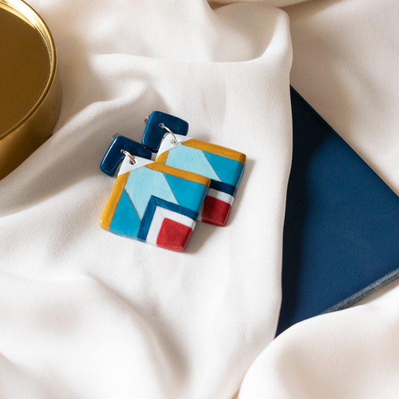 Texture '60 | Orecchini pendenti rombo