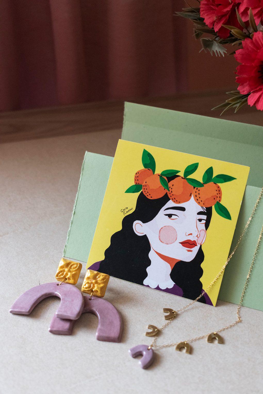 Orecchini in ceramica maioliche in rilievo, linea agata, gioielli artigianali, maioliche siciliane, gioielli fatti a mano