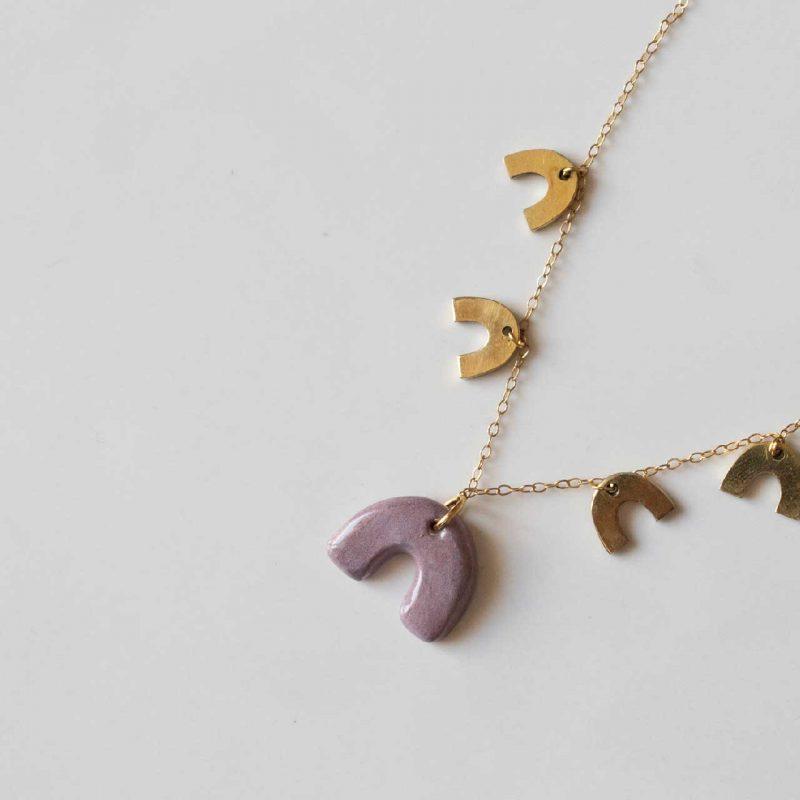 collana girocollo in ceramica artigianale linea agata, gioielli artigianali, maioliche siciliane, gioielli fatti a mano
